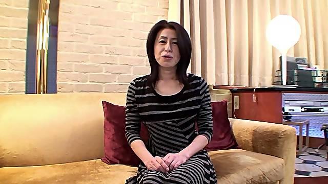 Horny Japanese mature Nobuko Tachikawa moans while getting pleasured