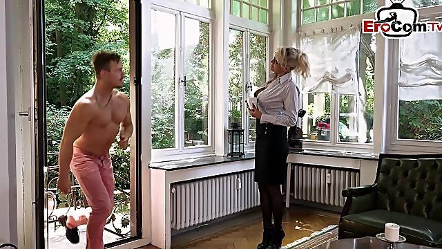 German mature big tits secretary millf in offic