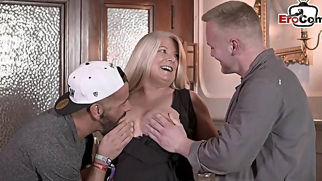 German bbw chubby mom with bg tits threesome