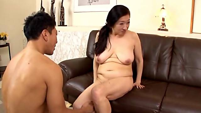Dirty Japanese mature gets undressed and fucked by a stranger