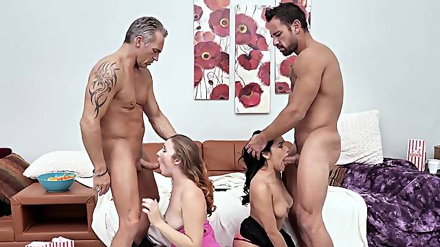 Compilation of best foursome scenes with stunning pornstars