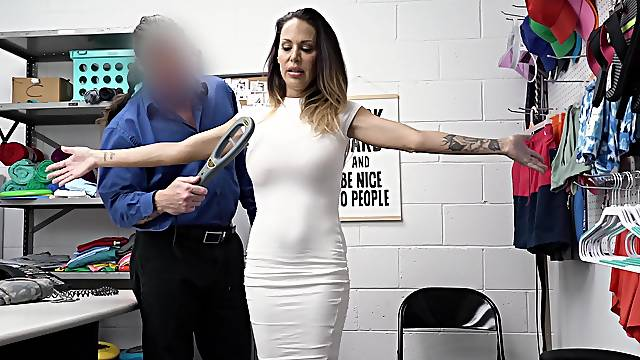 Hardcore fucking in the office with fake tits MILF McKenzie Lee