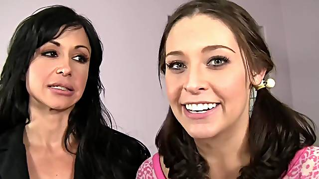 FFM threesome with a wife and a teen - Gracie Glam and Jewels Jade