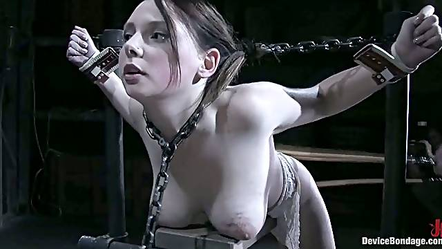 Beautiful Sara Scott enjoy rough and hot BDSM action