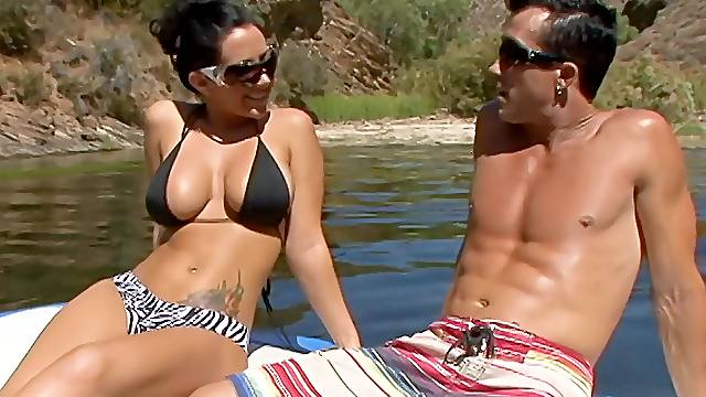 Hardcore fucking on the boat with provocative MILF Jayden Jaymes