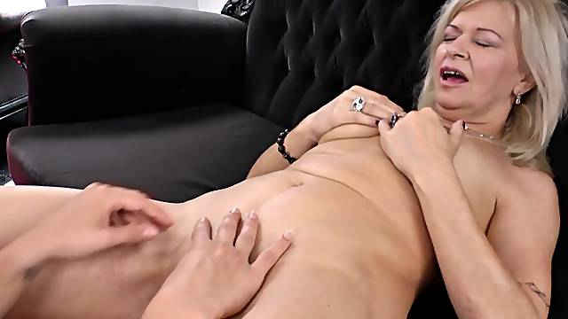 Redhead chick enjoys having sex with a MILF - Reka Gabor and Istvanne