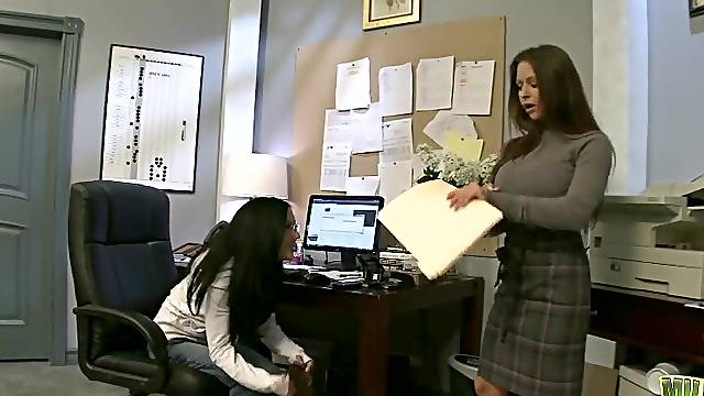 Incredible sex in the office with naughty secretary Rachel RoXXX