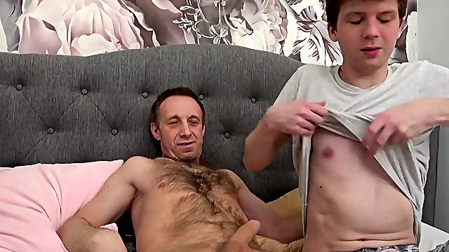 Gay dude with a long dick enjoys having sex with a younger man