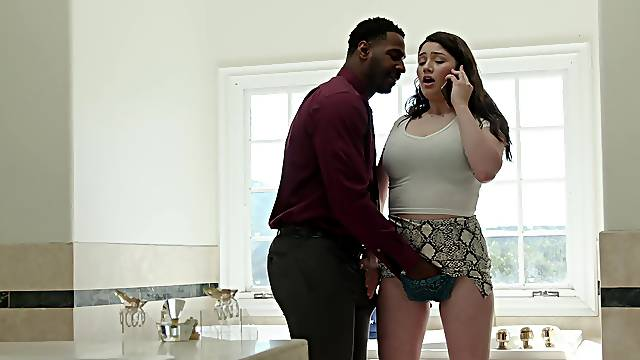 Wild interracial fucking with cheating housewife Alyx Star