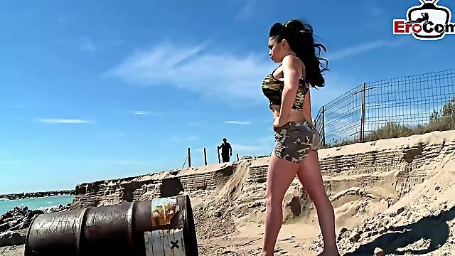 Big tits spanish latina milf outdoor babe
