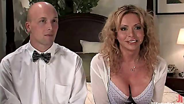 Big and hard surprise for Troy from that blond angel