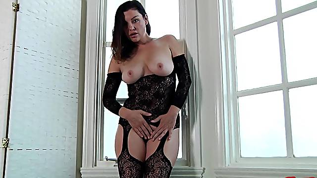 Busty housewife Sovereign Syre in lingerie gets fucked by her man