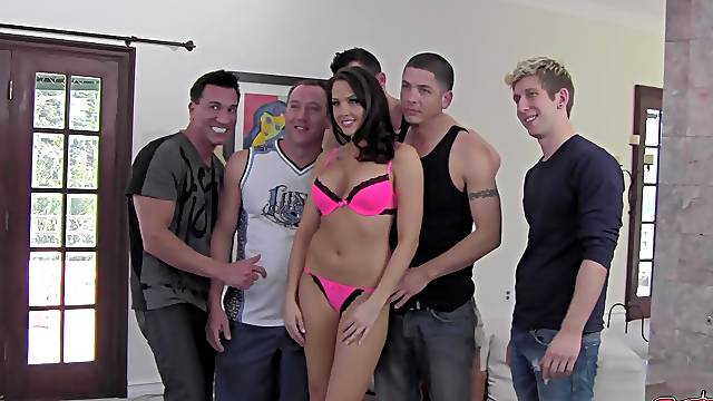 Behind the scenes of gangbang scene filming with Chanel Preston