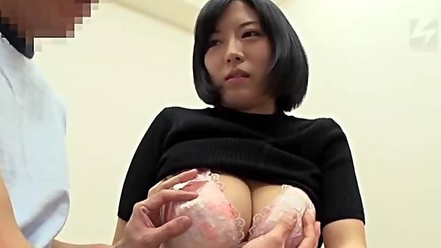 Foxy Japanese stranger Hosaka Eri gives head and wants to ride