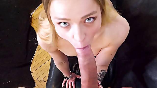 Closeup POV video of shaved girlfriend Alexa Flexy getting fucked