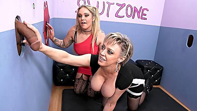 Gloryhole slut zone with pornstars Dee Williams and Kali Roses