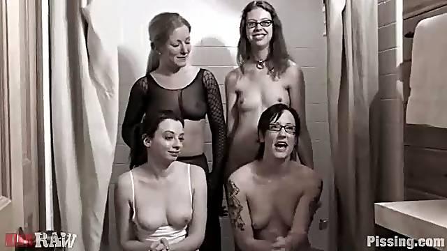 Disgusting lesbian fetish full of some female urine