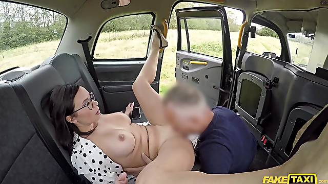 Frisky brunette Alysa Gap gets eaten out and shagged in the car