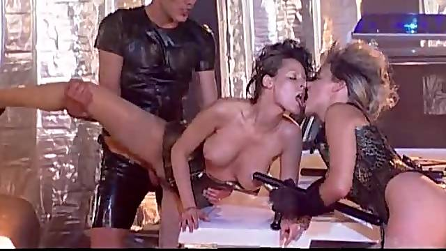 Glamorous hotties fucked by police officer