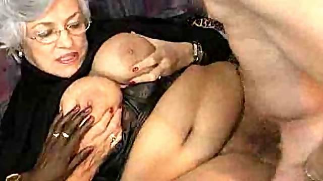 Gorgeous granny fuck sluts banged