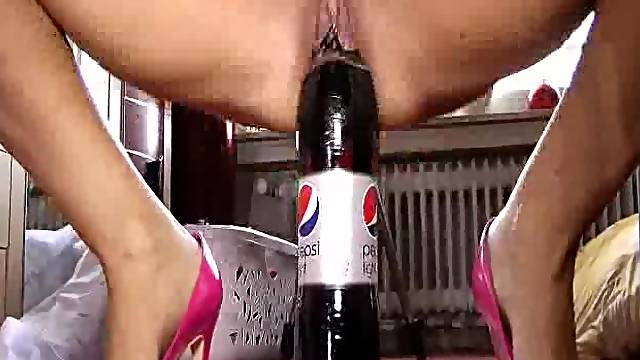 Giant cola bottle and fisting penetrations