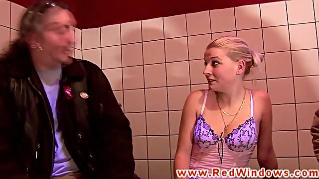 Real dutch hooker sucks a tourists cock