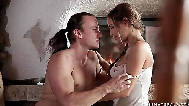Kissing and cocksucking with Satin Bloom