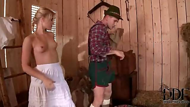 German guy fucks skinny blonde Sweet Cat