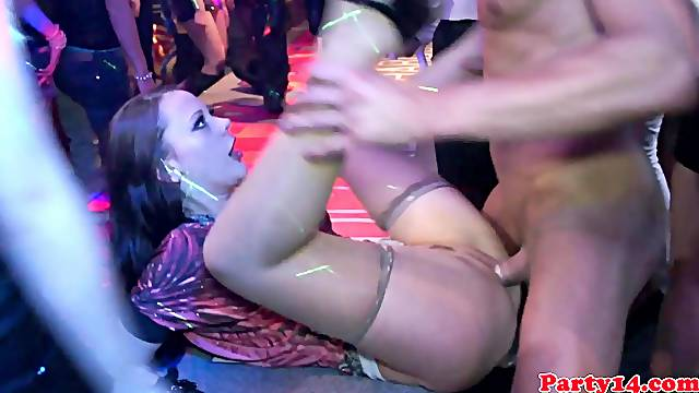 Real party euro amateur in doggystyle