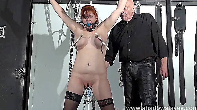 Swedish submissive Vicky Valkyrie tied