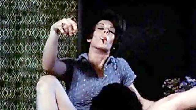 Classic Dolly Sharp Pussy Licked While Smoking