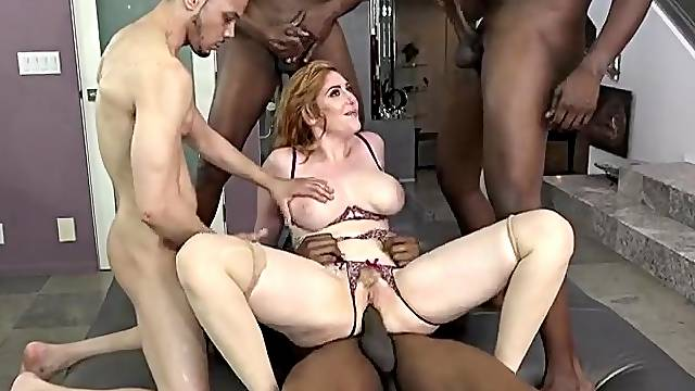 Lauren Phillips gives up every hole in a gangbang
