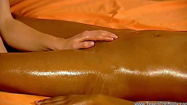 Erotic massage of two ladies