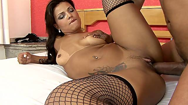 Curvy Brazilian girl fucked like a good slut in her bed