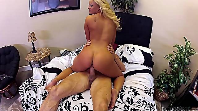 Behind the scenes with a cute young fuck slut