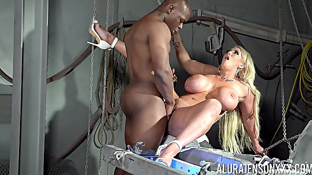 Busty cougar screams of lust and pleasure with a BBC inside her ass