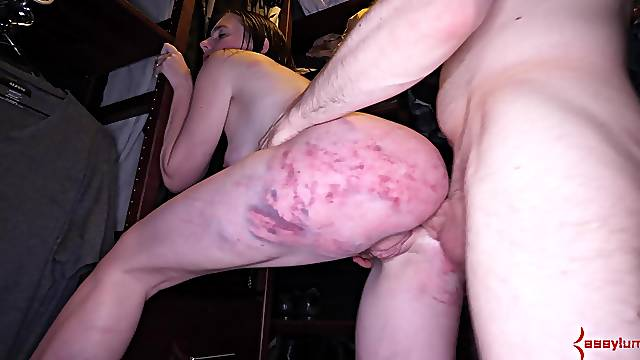 Roughly spanked and gagged for a complete maledom special