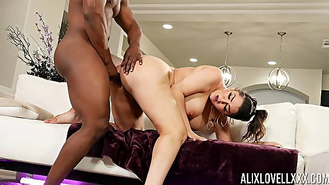 Big ass MILF tries her luck with the neighbor's huge black dick
