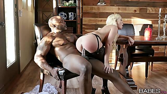Well-built black bloke bones bodacious blonde Bailey Brooke