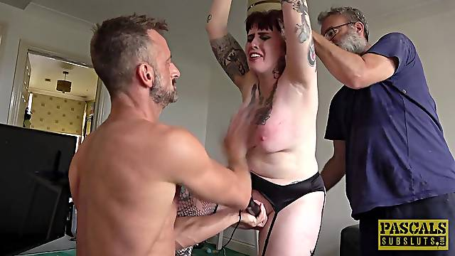 Anal for the submissive mature wife in a kinky home fetish