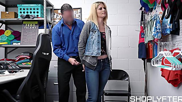Madison Haze fucks her way out of trouble with store security