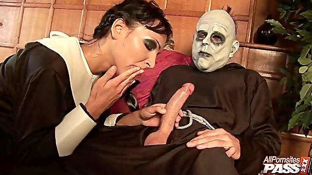 Amazing roleplay in crazy Addams family porn parody