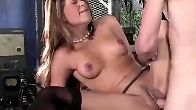 Glamorous looking French girl fucked hard