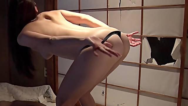JAV facesitting femdom Maki Hojo giving blowjob and spanking