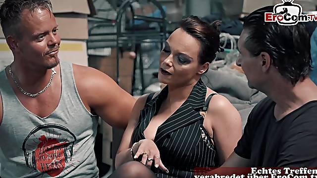 German big tits mature milf threesome