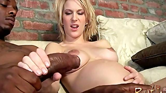 Gorgeous Ruth Blackwell gets her cunt stretched with a black dick