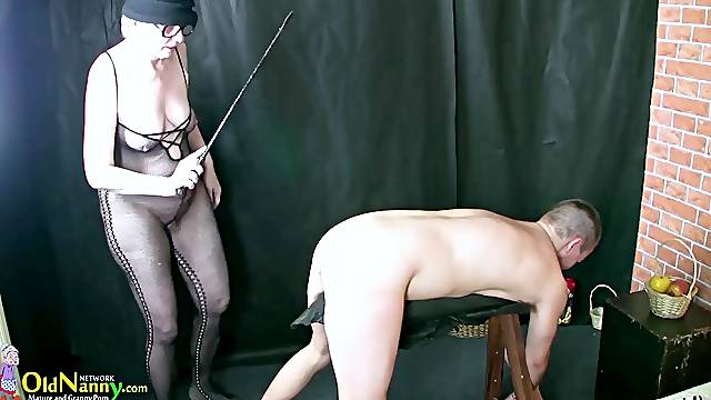Real old granny playing with youngster willing to fuck well aged hairy pussy