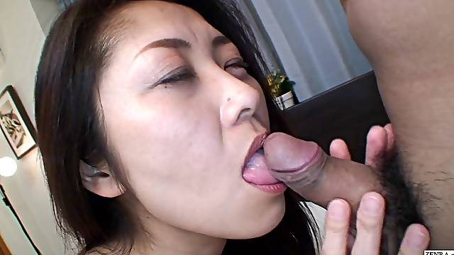 Uncensored hairy Japanese wife most important blowjob ever