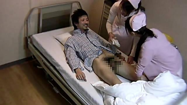 FFM threesome in a Hospital with slutty Japanese nurses - HD