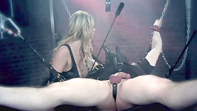 BDSM fetish video with femdom by Paige Ashley over her boyfriend